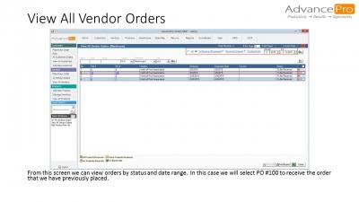 View All Vendor Orders