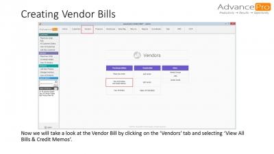 Creating Vendor Bills