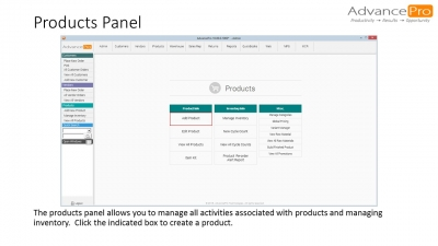 Products Panel