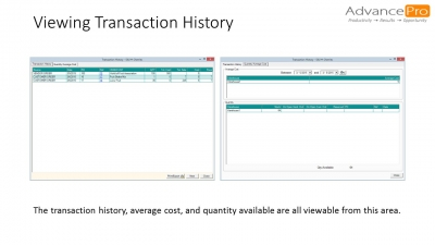 Viewing Transaction History