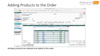 Adding Products to the Order