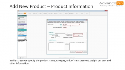Add New Product - Product Information
