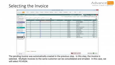 Selecting the Invoice