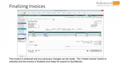 Finalizing Invoices